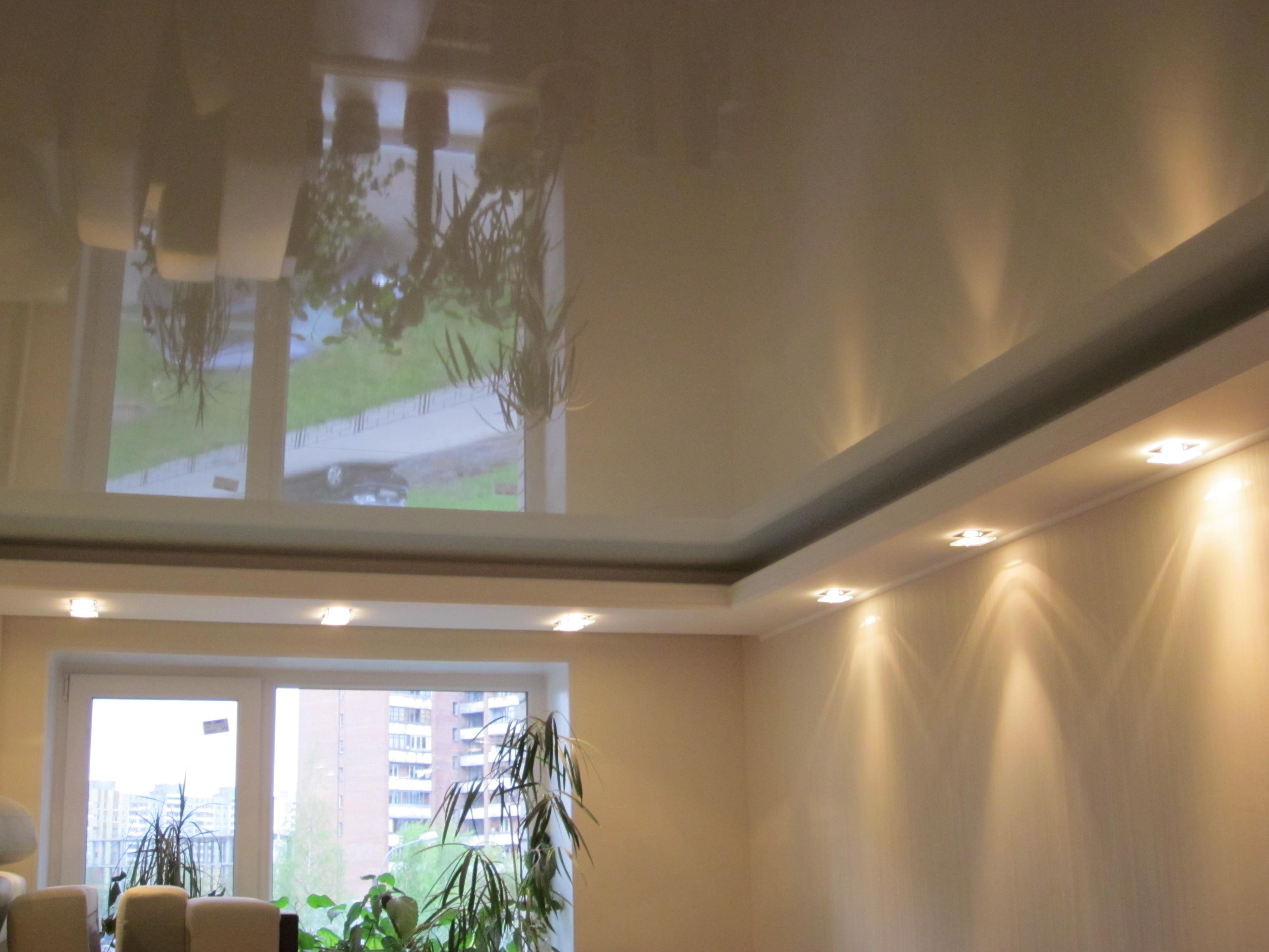 Комбинированный потолок из гипсокартона и натяжного потолка своими руками 149